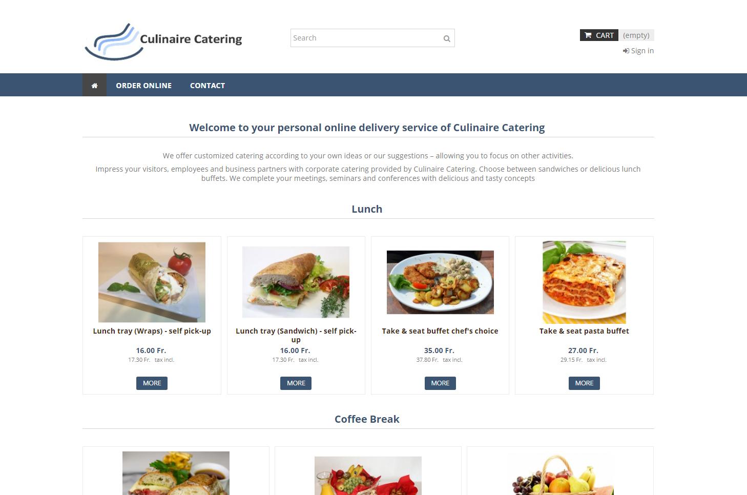 Online Bestellung für Biogen von Culinaire Catering, Baar