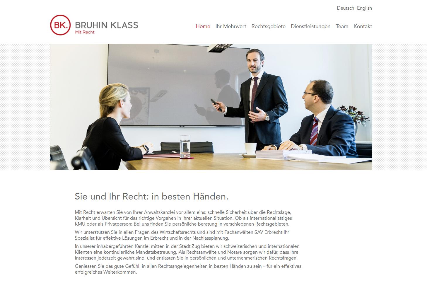 Bruhin Klass, Zug